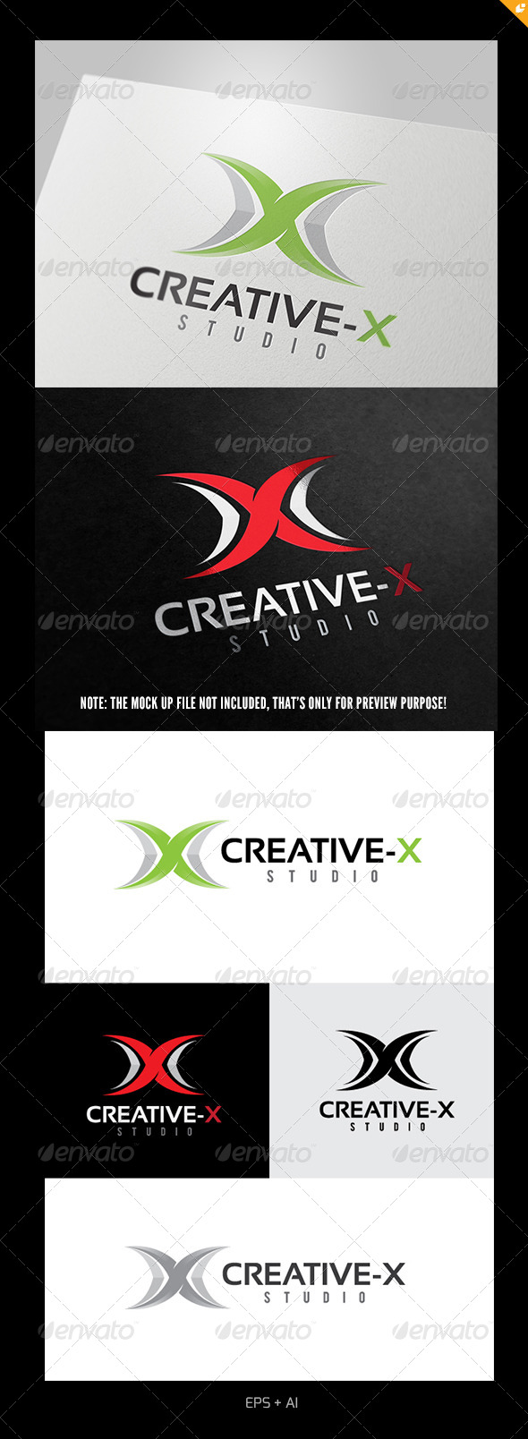 Logo Design Creative x logo - letters logo