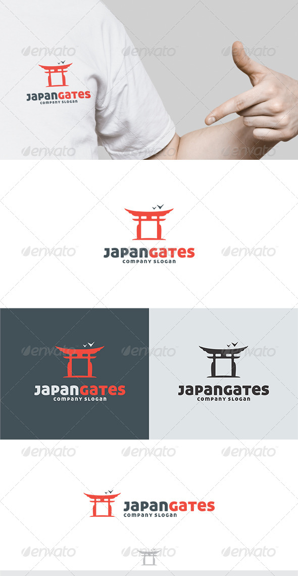 GraphicRiver Japan Gates Logo 5417468