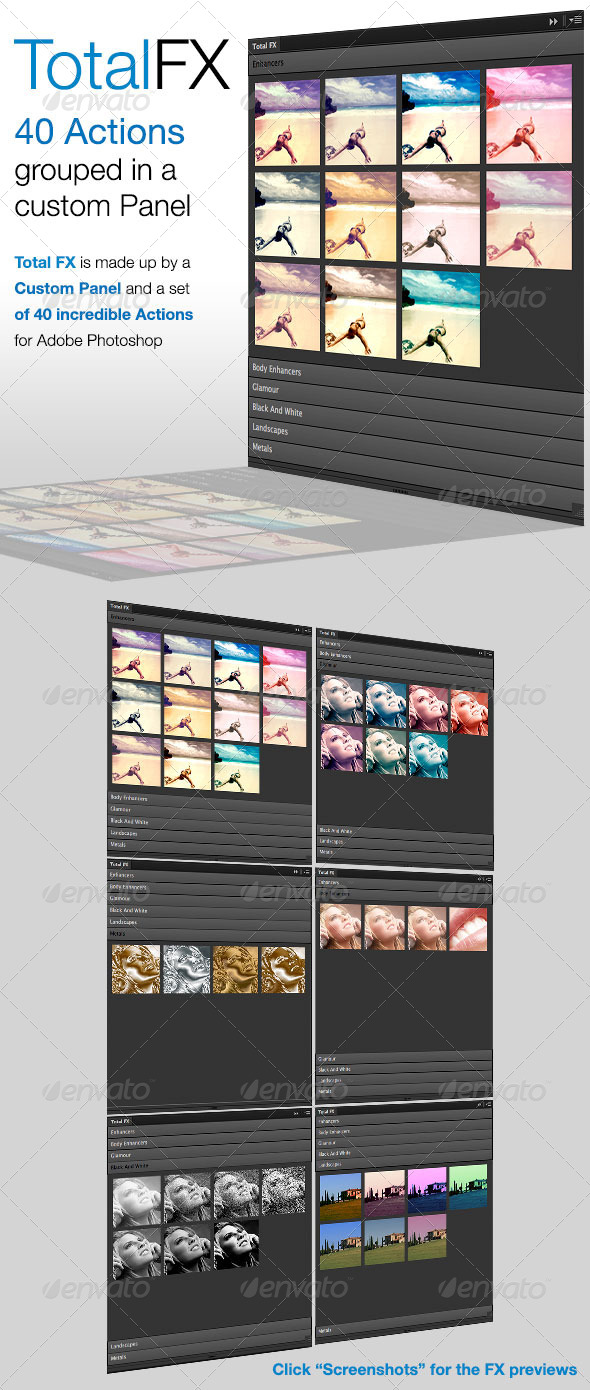 GraphicRiver Total FX 40 Actions on Custom Panel 5417477