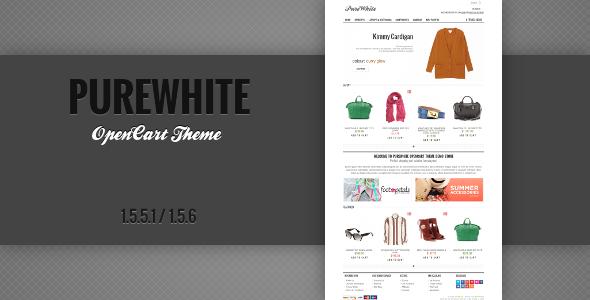 ThemeForest PureWhite Premium OpenCart Theme 5417738