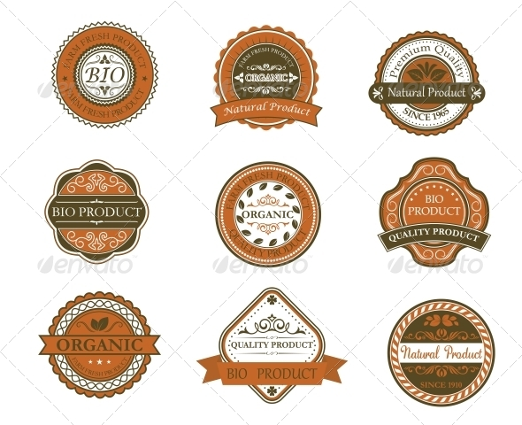 GraphicRiver Bio and Organic Labels 5417858