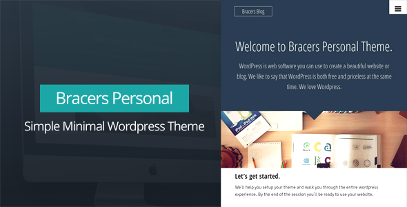 Bracers Personal – Minimal Blog WordPress Theme (Personal) images