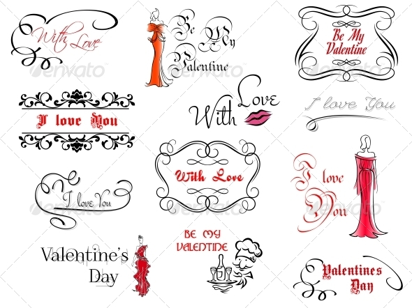Valentine's Day Design Elements - Valentines Seasons/Holidays