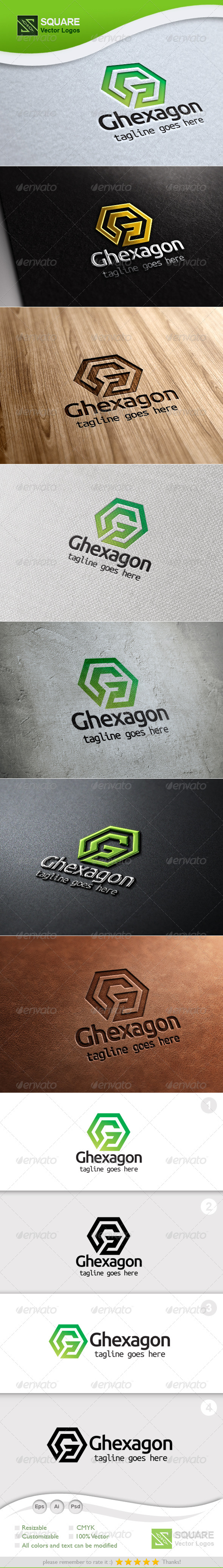 GraphicRiver G Hexagon Vector Logo Template 5418218
