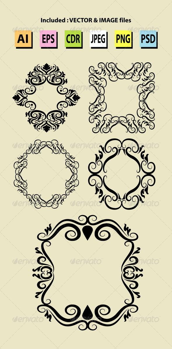 GraphicRiver Vintage Frame Decorations 5418545