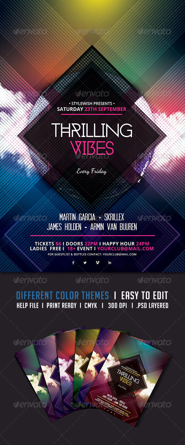 GraphicRiver Thrilling Vibes Flyer 5418593