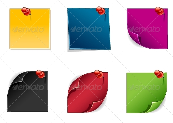GraphicRiver Colored Reminders 5418608