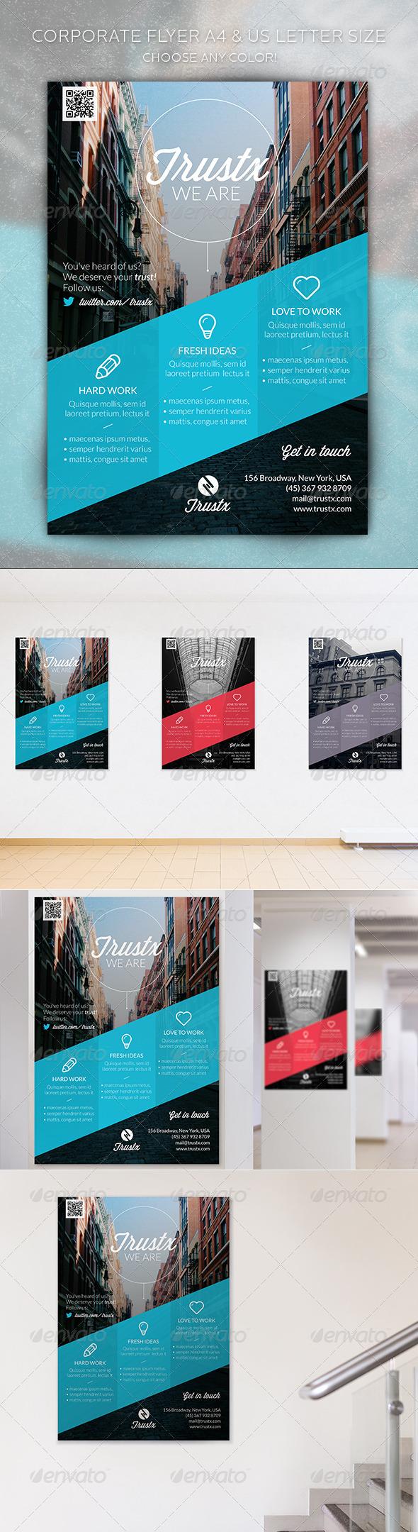 GraphicRiver Trustx Corporate Flyer 5418610