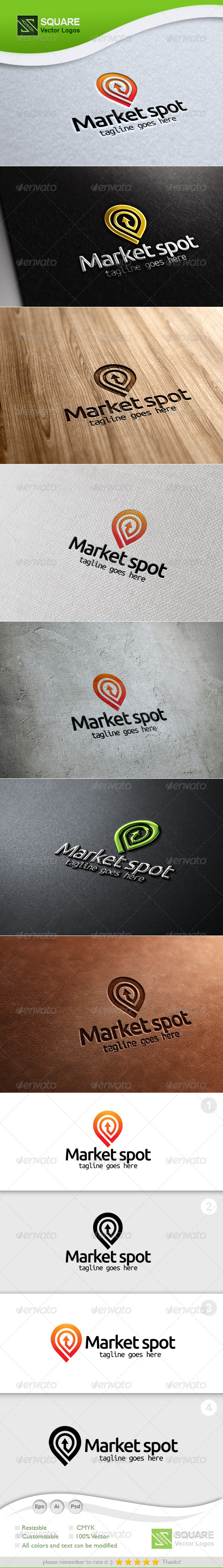 GraphicRiver Market Locator Vector Logo Template 5418741