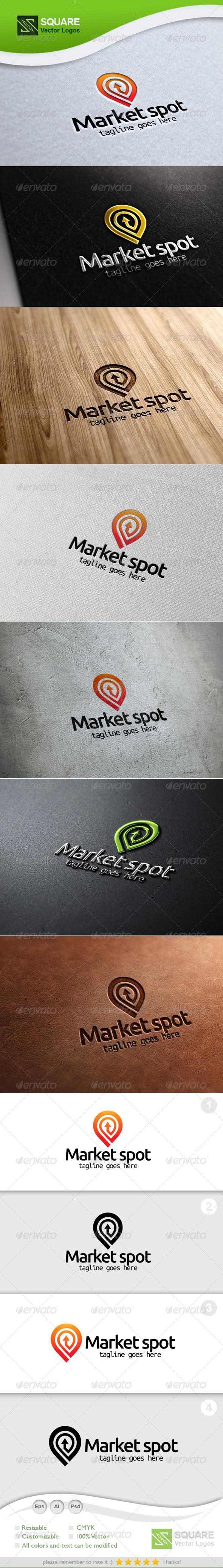 Market, Locator Vector Logo Template - Symbols Logo Templates
