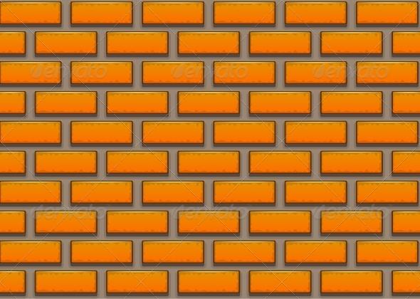 GraphicRiver Orange Brick Background 5418743