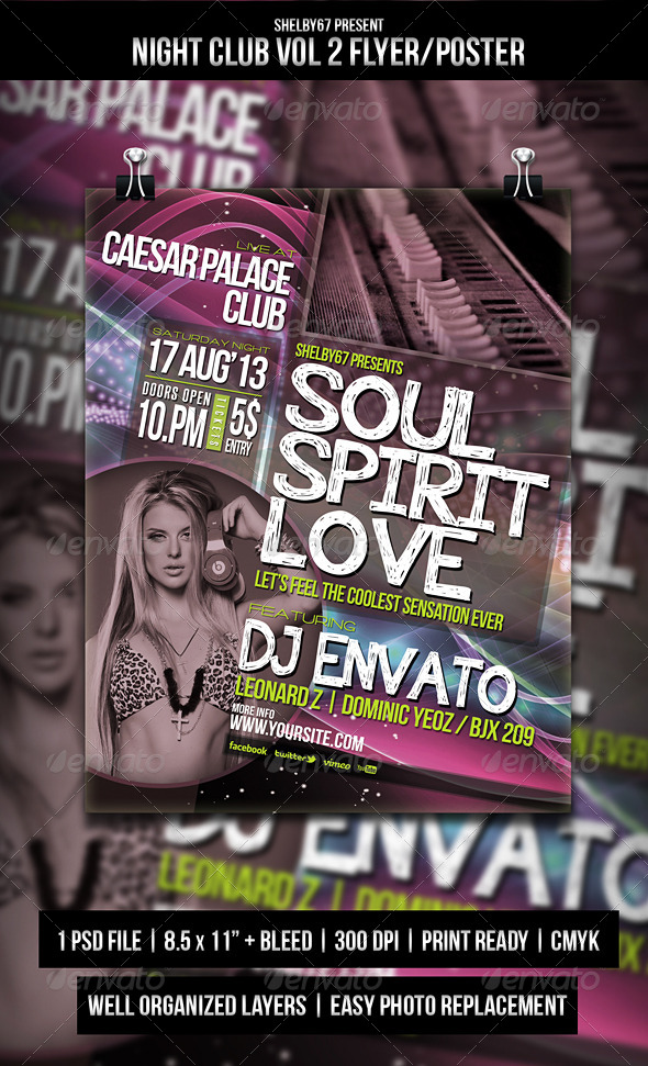 GraphicRiver Night Club Flyer Poster Vol.2 5418786