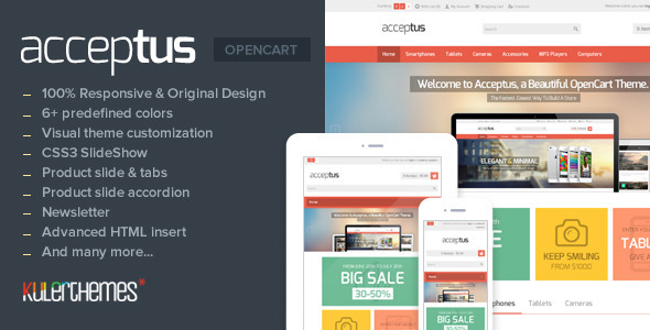 Acceptus – Responsive theme for mobile store owner - Technology OpenCart