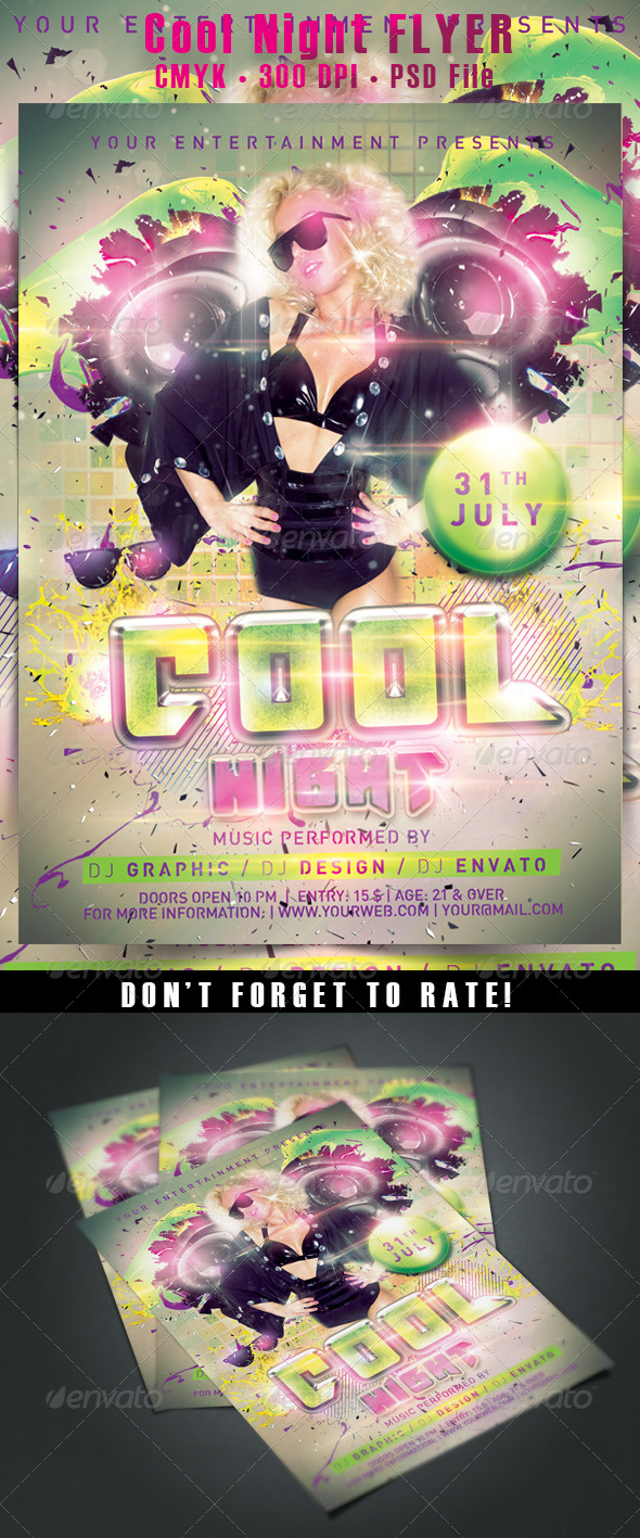 GraphicRiver Cool Night Flyer 5390148