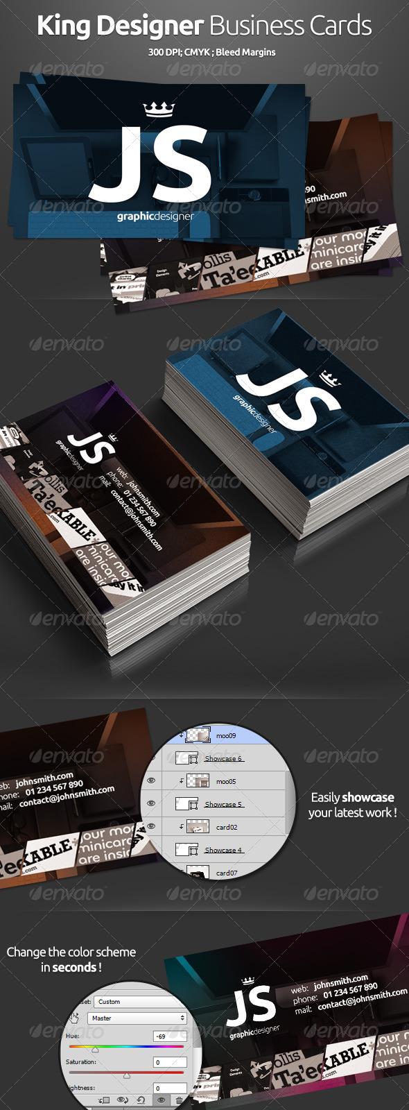 GraphicRiver King Designer Business Cards 5419412