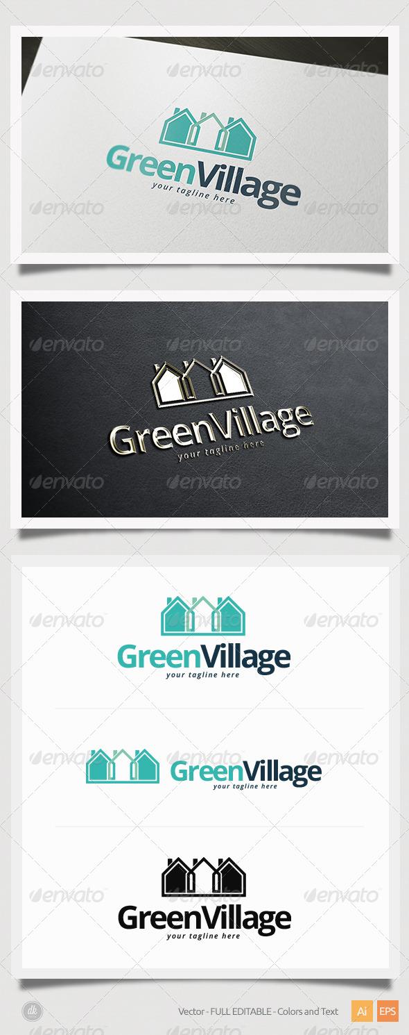GraphicRiver Green Village Logo 5419629