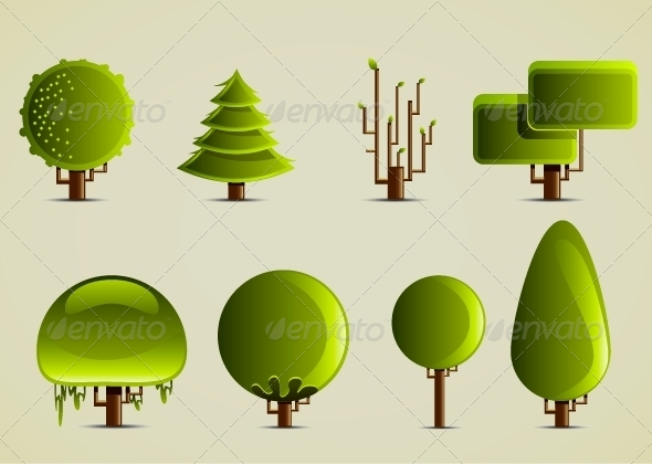 GraphicRiver Eight Different Trees 5419632