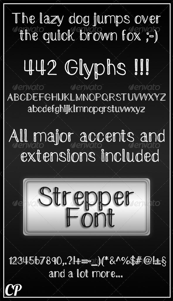 GraphicRiver Handwritten Strepper Font 5419709