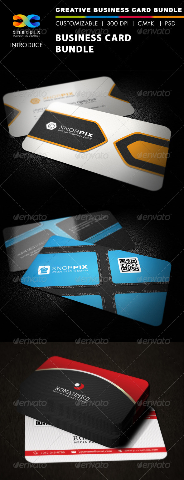 GraphicRiver Business Card Bundle 3 in 1-Vol 20 5419711