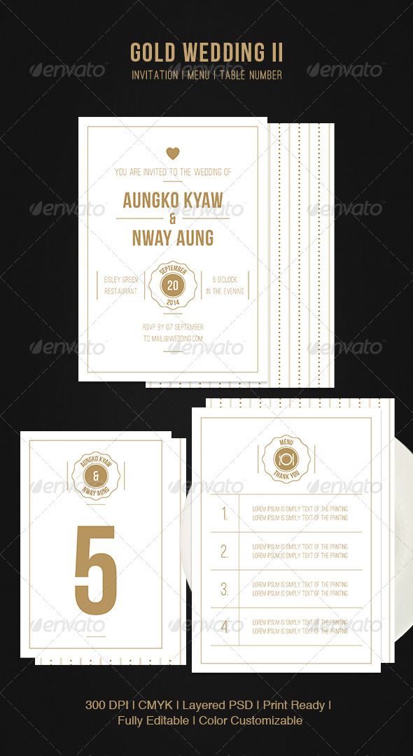 GraphicRiver Gold Wedding II 5419798