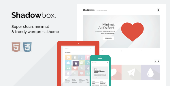 ThemeForest ShadowBox WP Super Minimal WordPress Theme 5420390