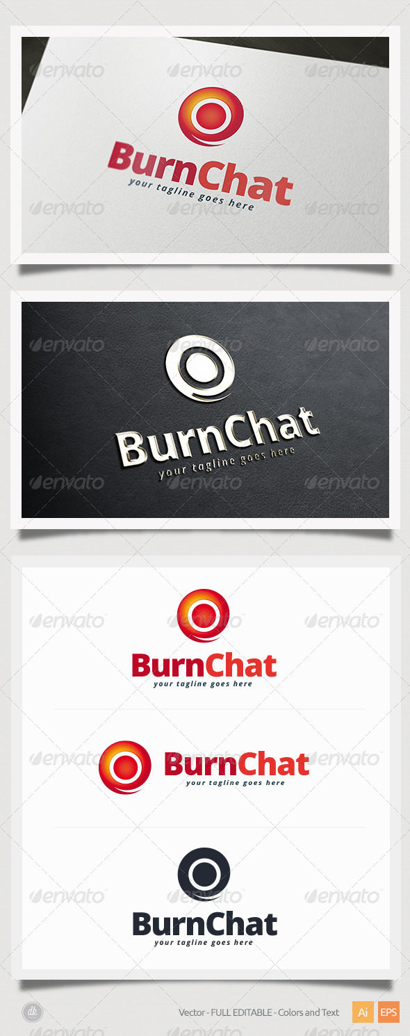 GraphicRiver Burn Chat Logo 5420397