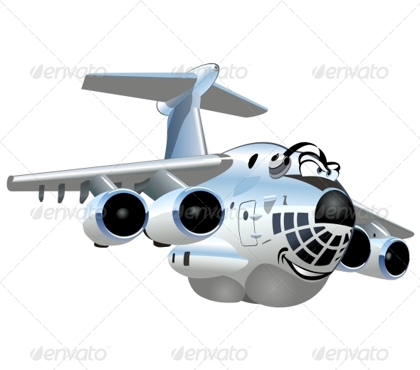 GraphicRiver Vector Cartoon Cargo Airplane 5420411