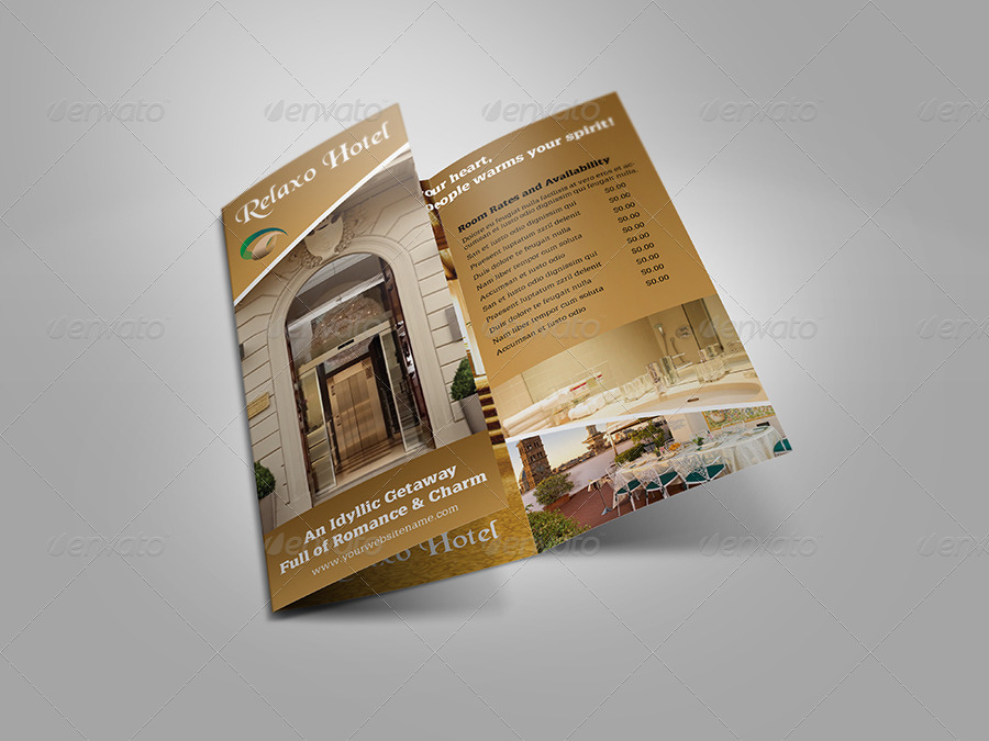 Hotel and Motel TriFold Brochure Template by OWPictures – Hotel Brochure Template