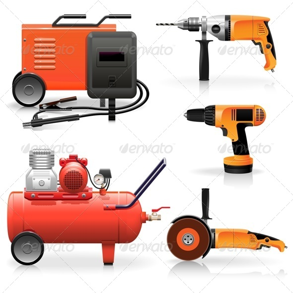 GraphicRiver Vector Electric Tools Icons 5420765