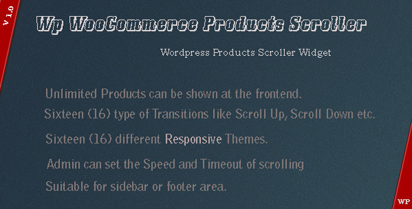 WP WooCommerce Products Scroller - CodeCanyon Item for Sale