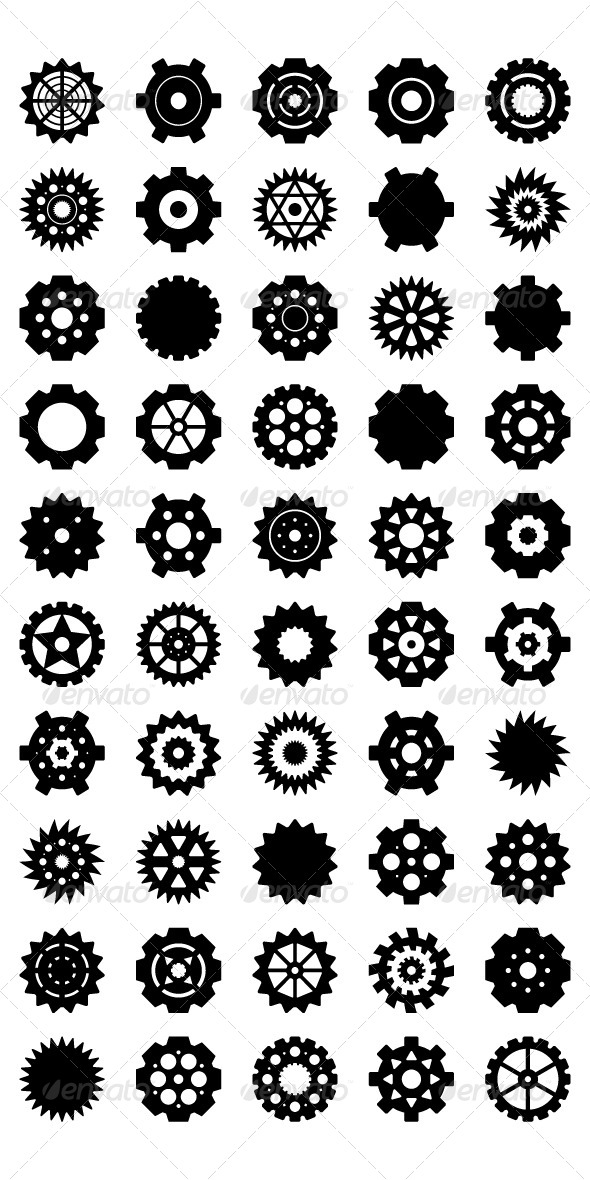 GraphicRiver Gear Vector set 5420985