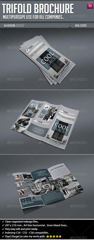 GraphicRiver Trifold Brochure Real Estate 5421046