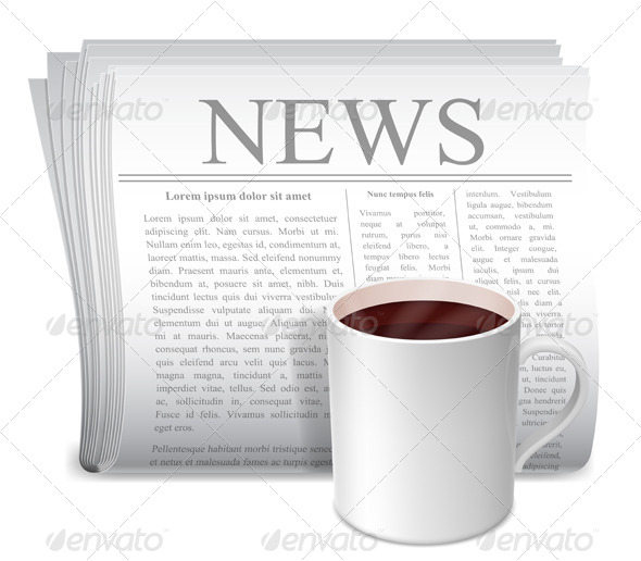 GraphicRiver Newspaper and Coffee Cup 5421296