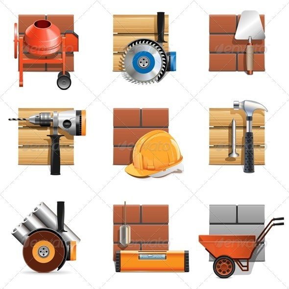 GraphicRiver Vector Construction Work Icons 5421417