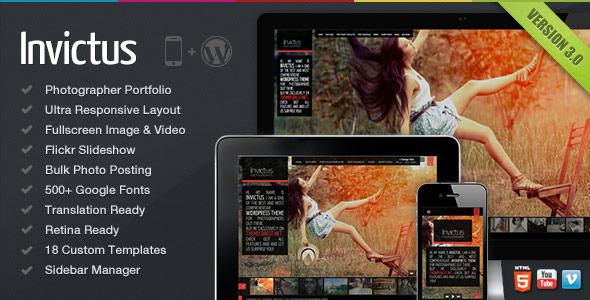 Invictus - A Premium Photographer Portfolio Theme - Photography Creative