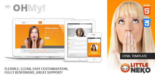 OHMY! HTML5, CSS3, Bootstrap website template