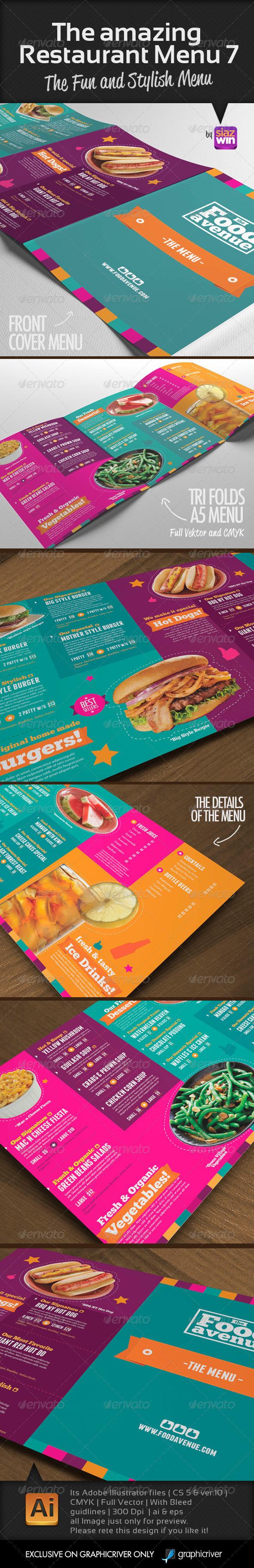 GraphicRiver The Amazing Restaurant Menu 7 5421775