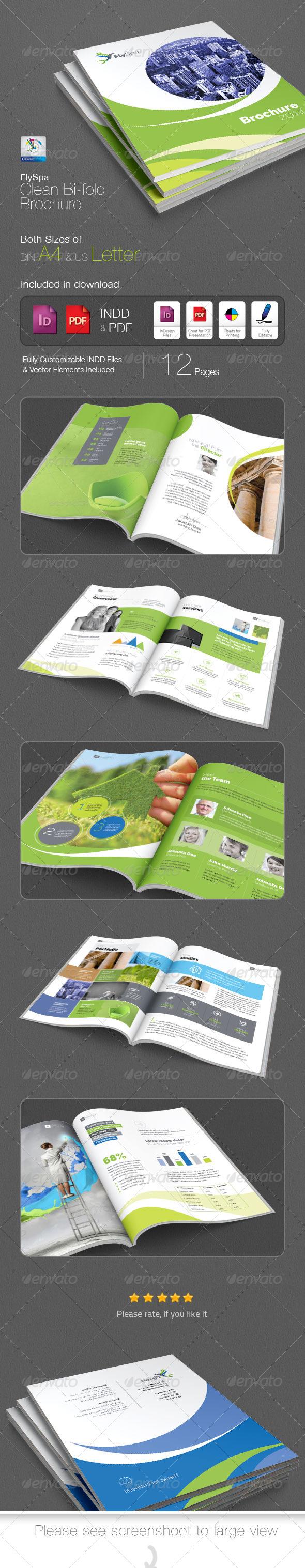 GraphicRiver FlySpa Bi-fold Brochure 5422114