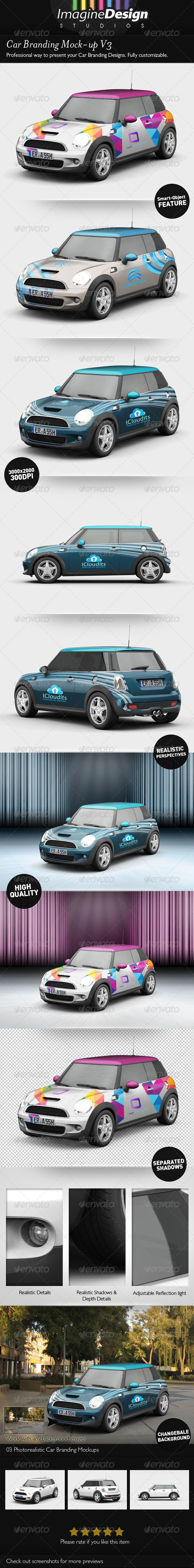 Car Branding Mock-up V3 - Vehicle Wraps Print