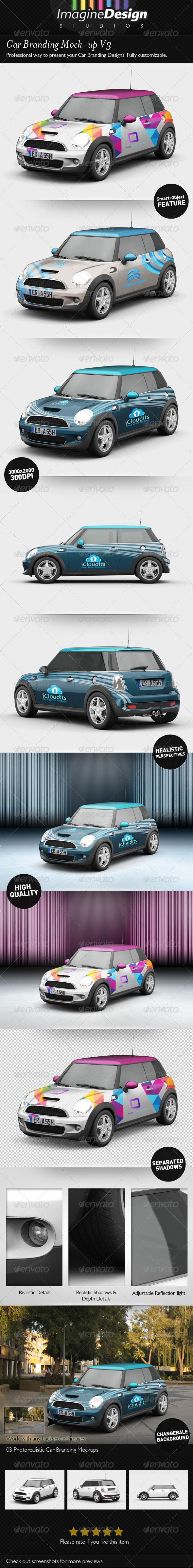 GraphicRiver Car Branding Mock-up V3 5394107