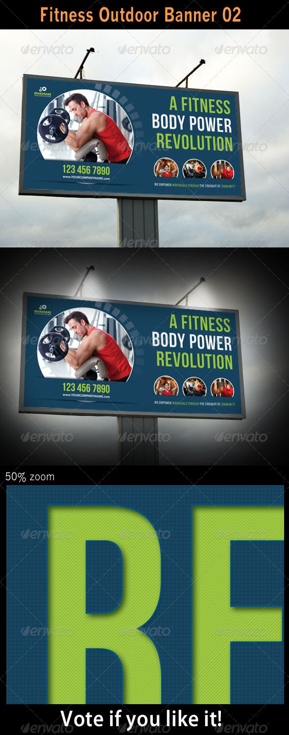 Fitness Outdoor Banner 02 - Signage Print Templates