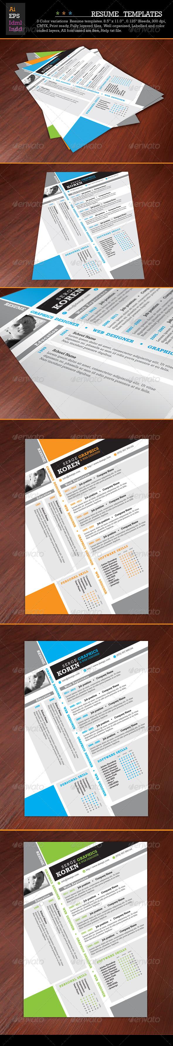 GraphicRiver Resume Template 5422628