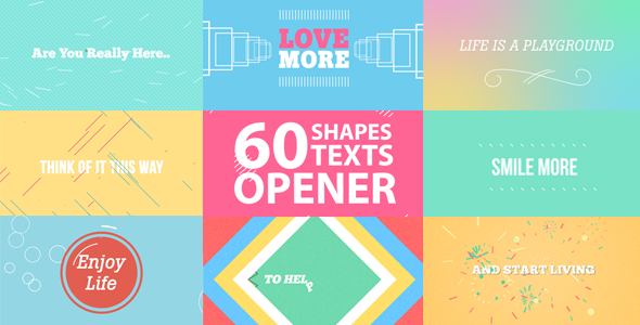 previewimage 60 Shapes, Text Reveals and Transition + Opener (Openers) After Effects Download