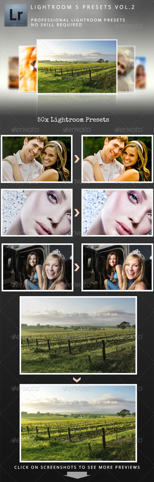 Premium Lightroom 5 Presets Vol.2 - Lightroom Presets Add-ons