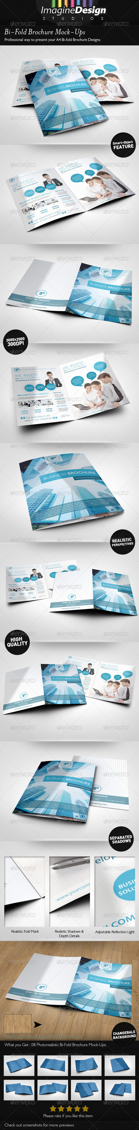 GraphicRiver Bi-Fold Brochure Mock-Ups 5422735