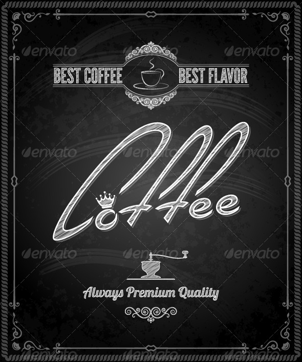 GraphicRiver Chalkboard Framed Coffee Menu 5422747