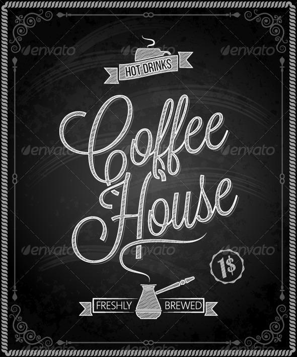GraphicRiver Chalkboard Framed Coffee Menu 5422760