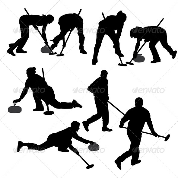 GraphicRiver Curling Game Silhouette 5422796