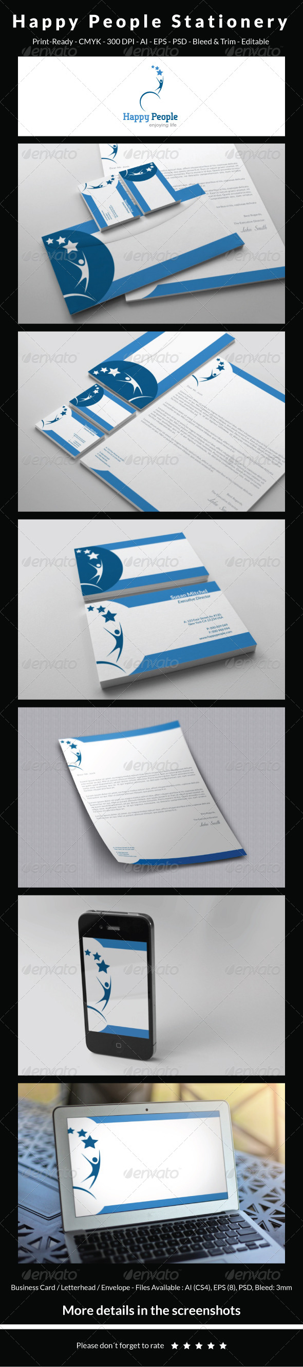 GraphicRiver Happy People Stationery 5396141