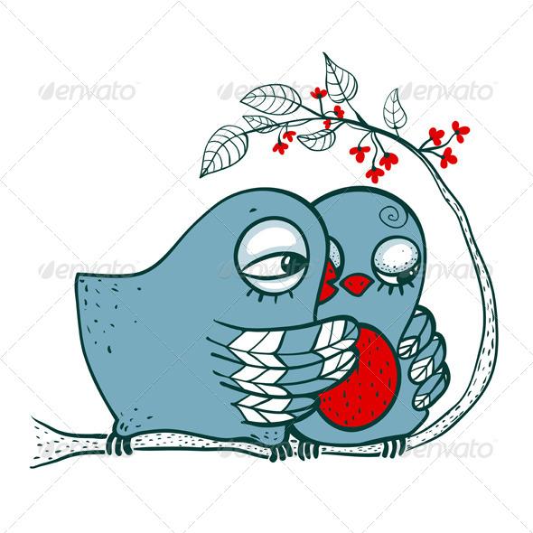 GraphicRiver Birds in Love 5422886